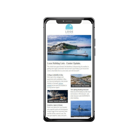 Looe Holiday Lets – Website Updates, Copywriting, SEO and Email Marketing