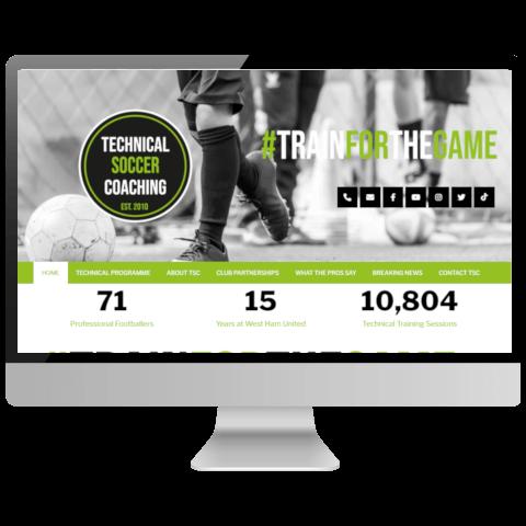 Technical Soccer Coaching Website Design Essex